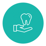 Tooth and hand icon